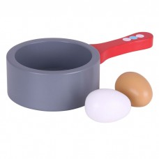 Open Pan With Boiled Eggs