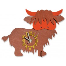 Highland Cow Mini Clock